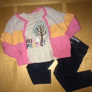 👧🏼 Hanna Andersson Colorblock Cardigan Sweater